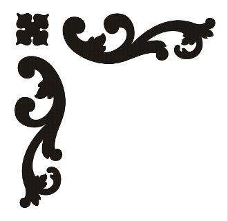 Parisian Scroll Corner - Furniture stencil. chalk paint stencil
