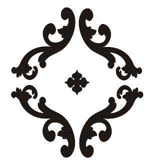 Parisian Scroll Motif - large furniture stencil, 10 mL thick
