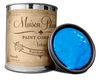 Peacock -Quart of blue chalk paint. Quart of blue furniture paint. Can of blue chalk paint. Can of blue furniture paint.