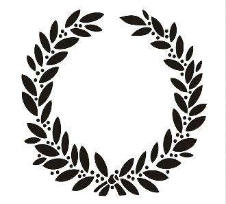 Vintage Laurel Wreath - furniture stencil. Large wreath stencil