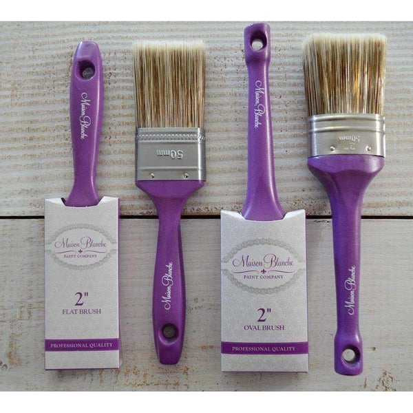 "2""Oval Brush - Maison Blanche Paint Company"