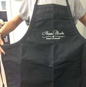 Black branded painting apron