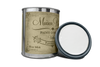 Quart of furniture paint. Quart of chalk paint. Can of furniture paint. Can of chalk paint