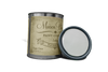 Can of white blue chalk paint. Can of white blue furniture paint. Quart of white blue chalk paint. Quart of white blue furniture paint.