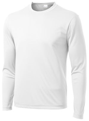 Long Sleeve -Performance Crew Neck T-Shirt (white)