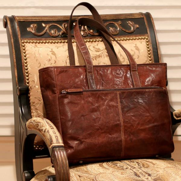 professional leather bag with padded laptop pocket