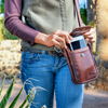 crossbody leather cell phone holder