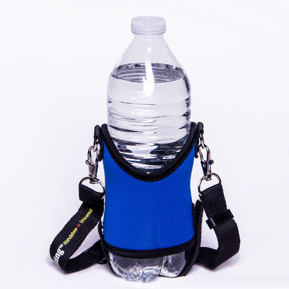 blue drink sling water bottle holder