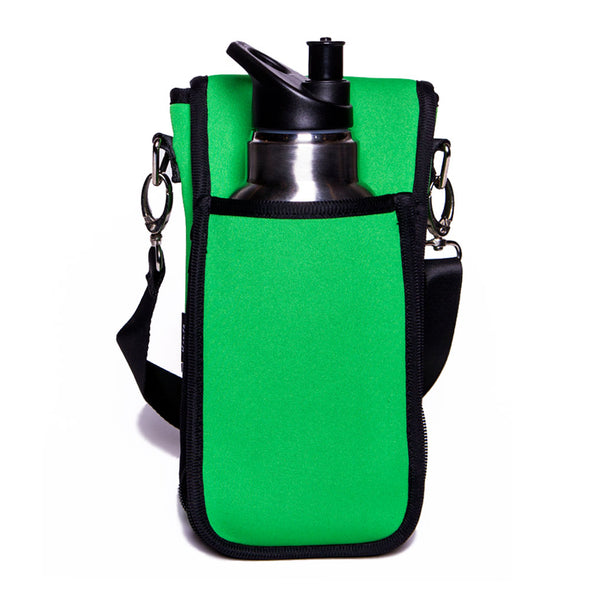 green neoprene beverage holder