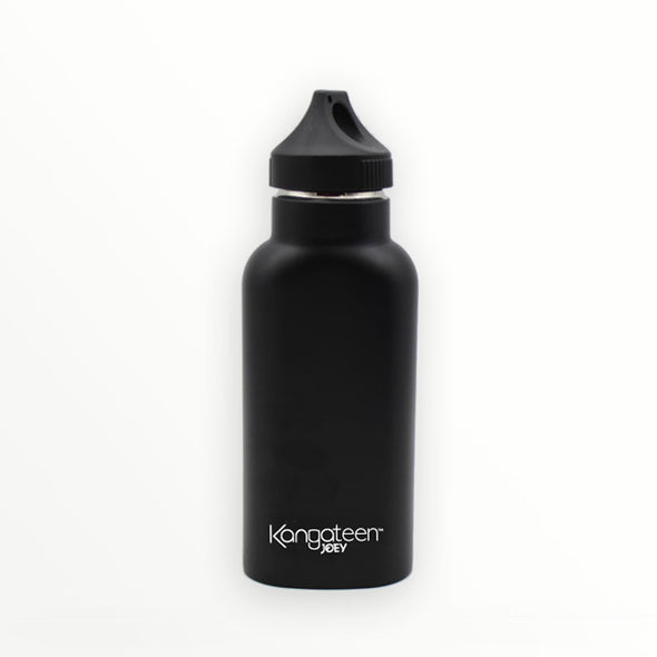 black reusable water bottle - kangateen