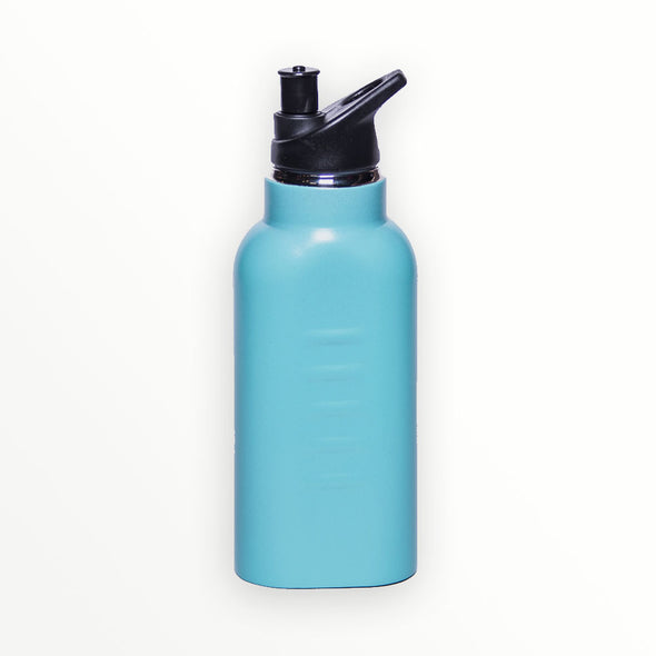 kangateen blue metal water bottle