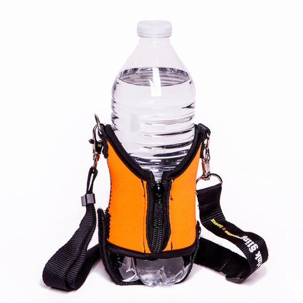 orange water bottle holder - drink sling