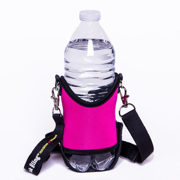 pink drink sling with adjustable crossbody strap