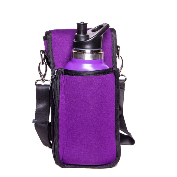 small purple crossbody hiker