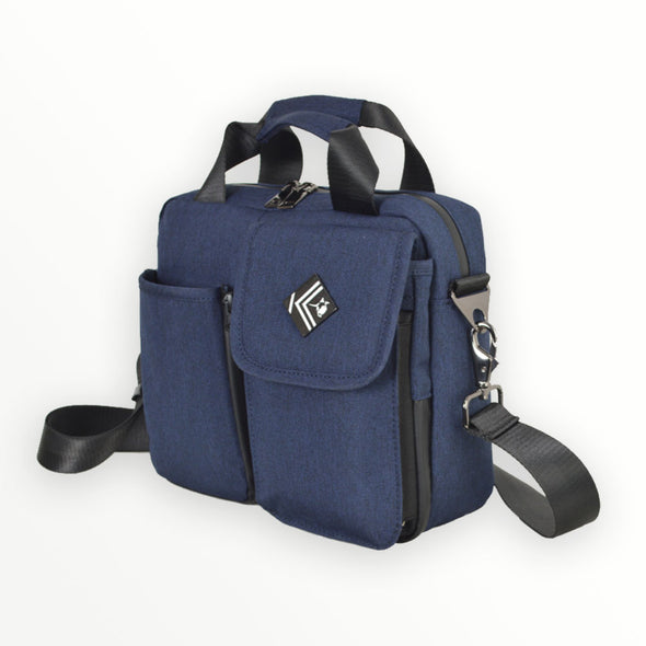 lightweight crossbody organizer - blue