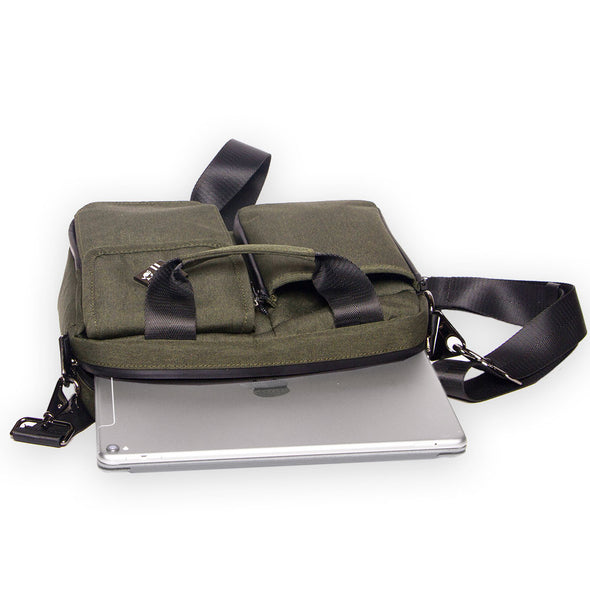 small travel bag and organizer holds tablet