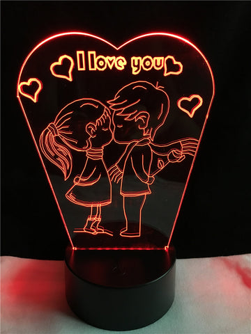 New romantic i love you 3d led lamp 3d lamps direct new romantic i love you 3d led lamp 3d lamps direct publicscrutiny Gallery