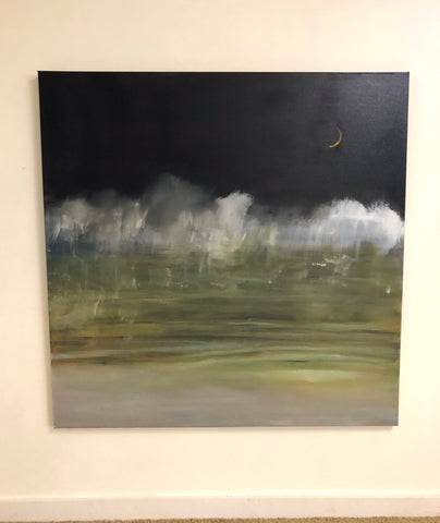"Misty Moon 48"" x 48"" SOLD Original Oil Painting"