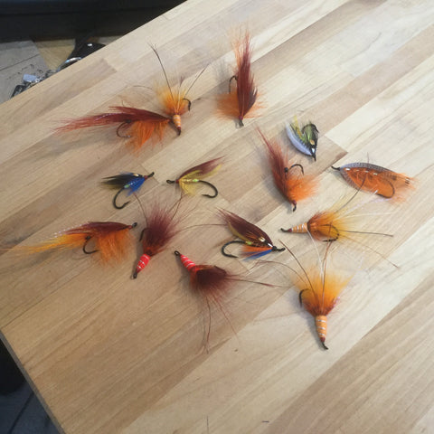 Collection of Alex' Salmon flies