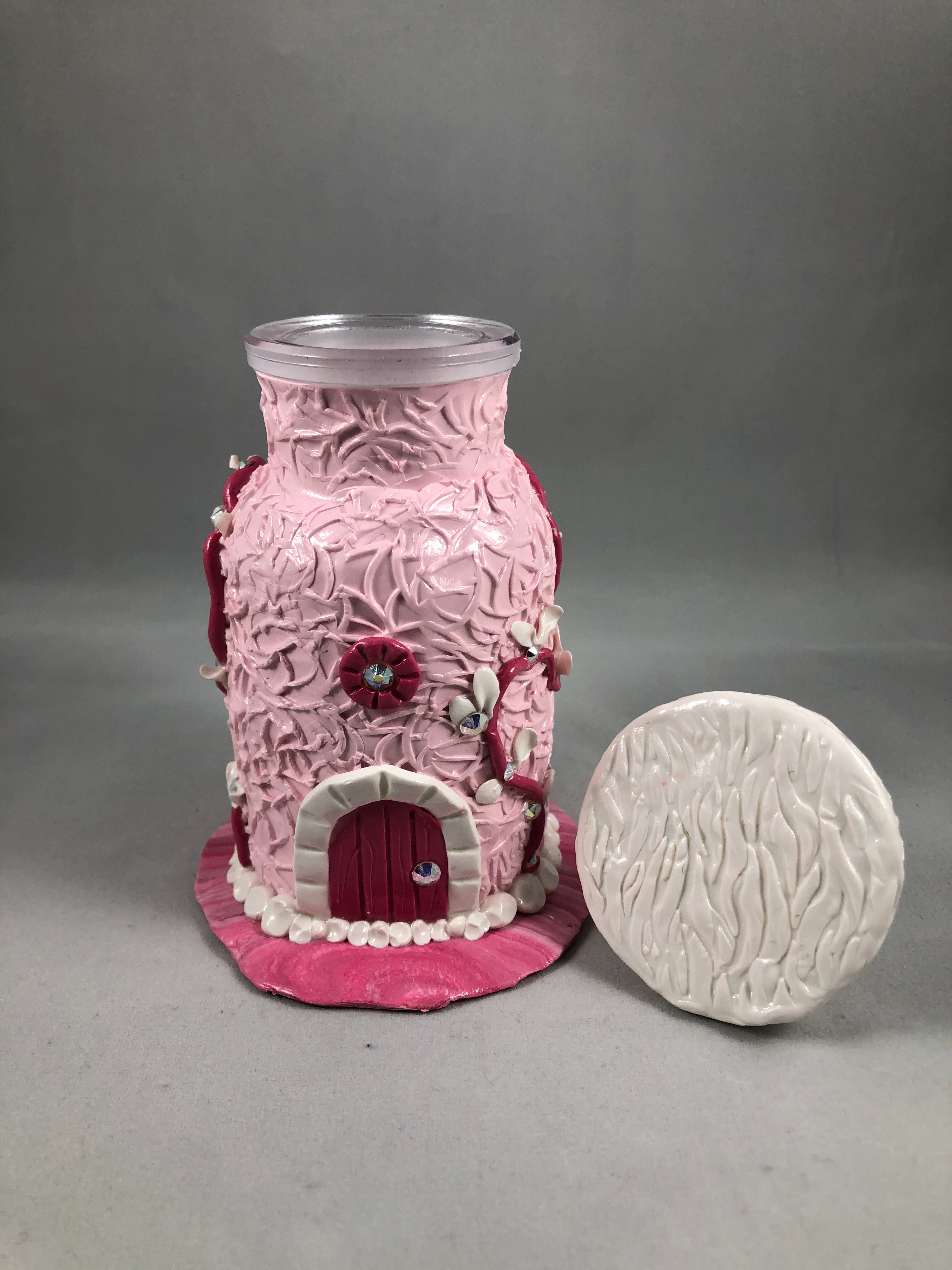 Pink Crystal Tooth Fairy House