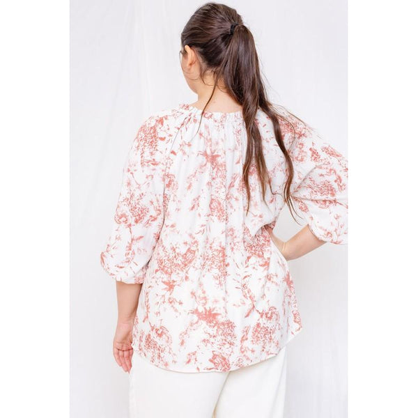 Avery Ruffle Floral Top