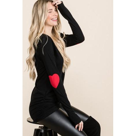 Val Heart Elbow Top