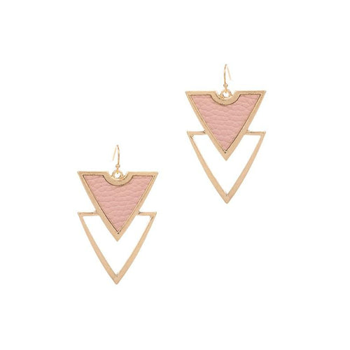 Double Triangle Shape Earrings
