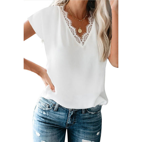Verona Lace V-Neck Top
