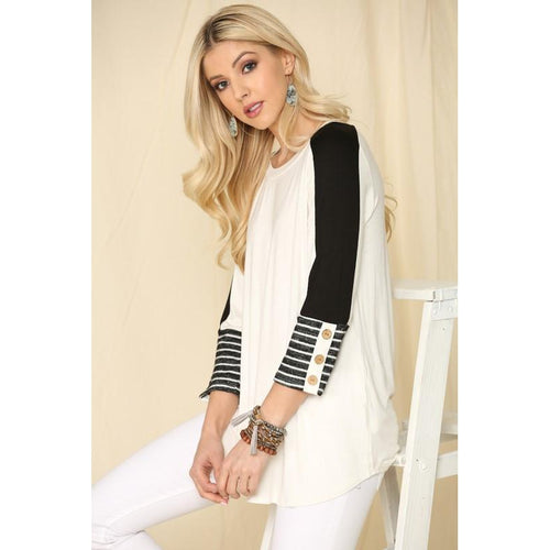 Katana Striped Cuff Top