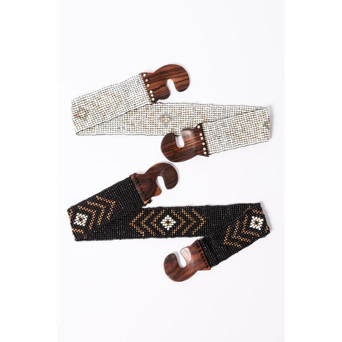 Tribal Stretchy Bead Belt