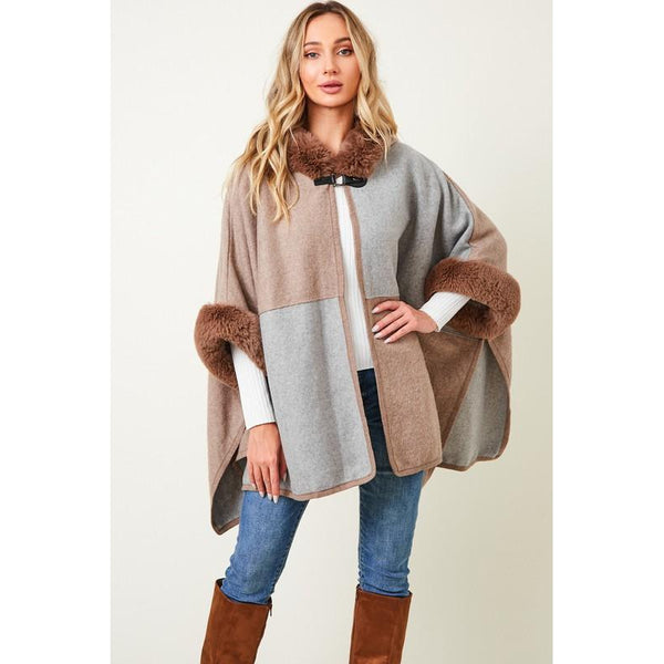 Inez Hooded Faux Fur Coat