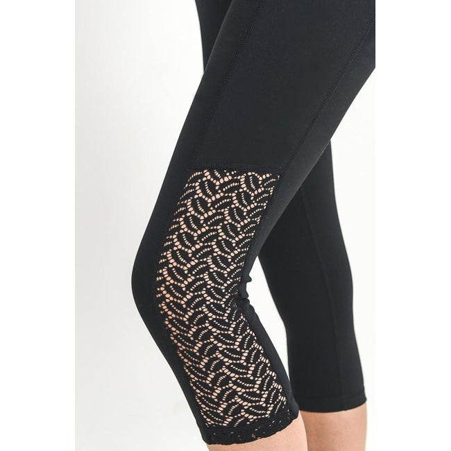 Eliza Laser Lace Leggings