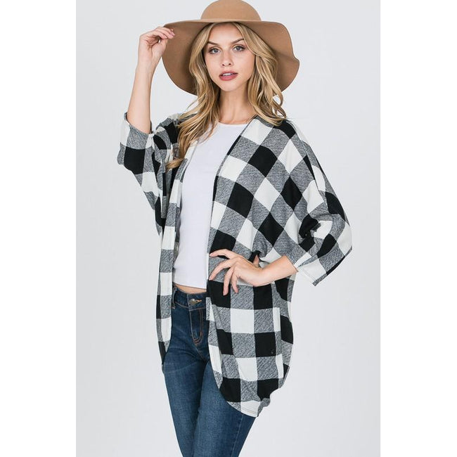 Ellen Plaid Cardigan