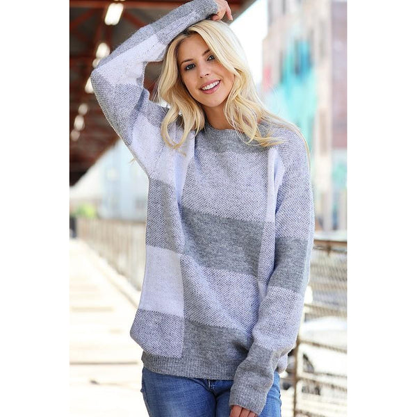 Gretchen Oversized Plaid Sweater