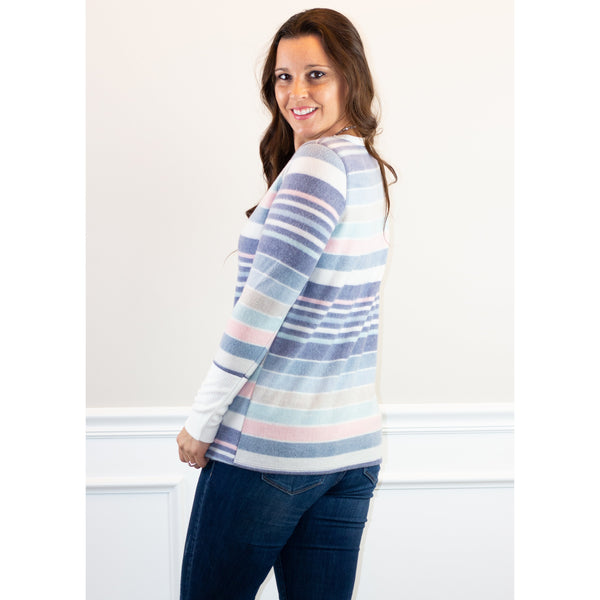 Jane Striped Knit Top