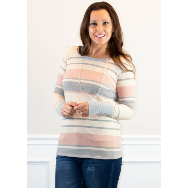 Oliver Multi Stripe Knit Top