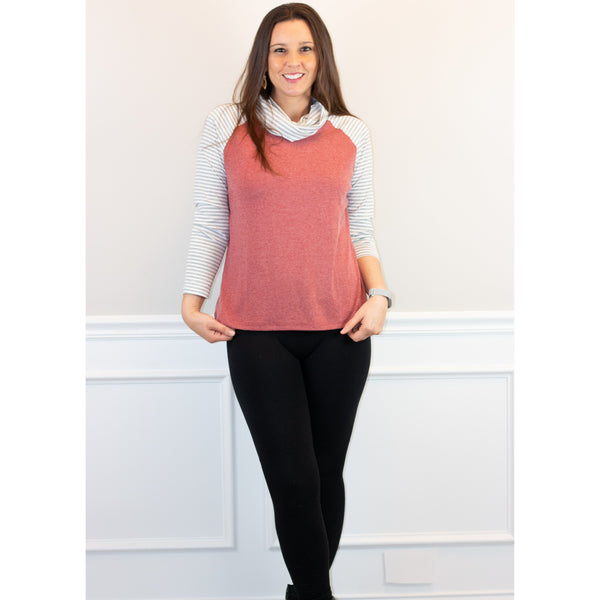 Erica Cowl-Neck Top