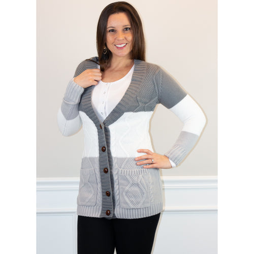 Posh Cable Knit Cardigan