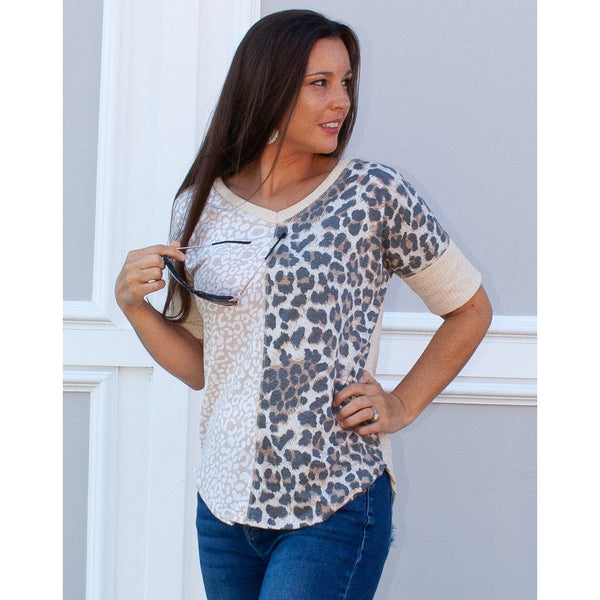 Ira Two Faced Leopard Top