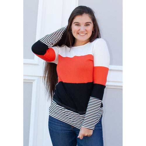 Alexandra Color Block Top