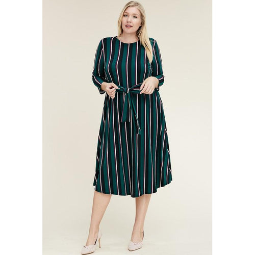 Jada Midi Dress-Curvy