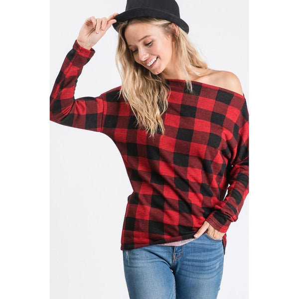 Joey Plaid Top