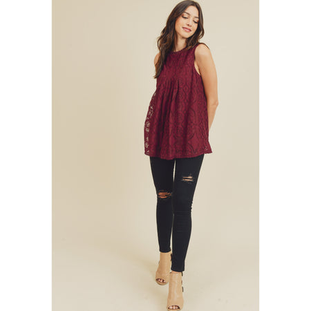 Georgia Scalloped Back Blouse