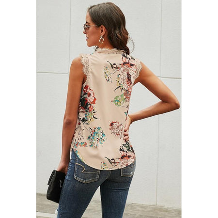 Estelle Floral and Stripe Top