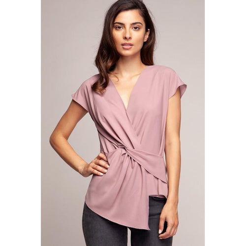 Trista Twist Front Blouse