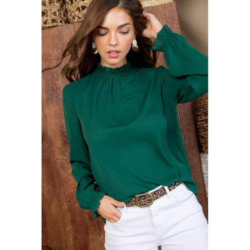 Brittney Mock Neck Blouse