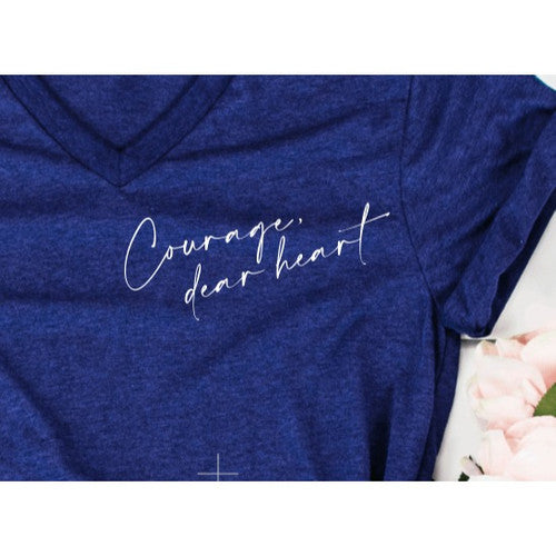 Courage Dear Heart V-Neck Tee