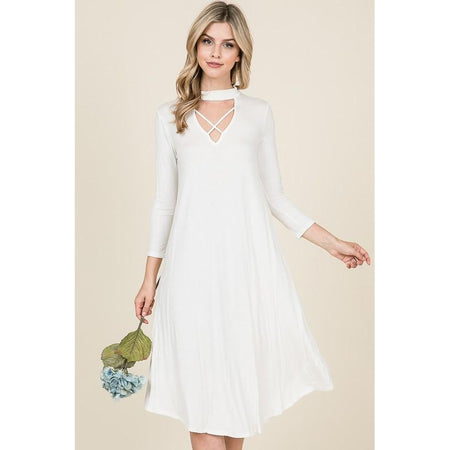 Portia Swiss Dot Midi Dress