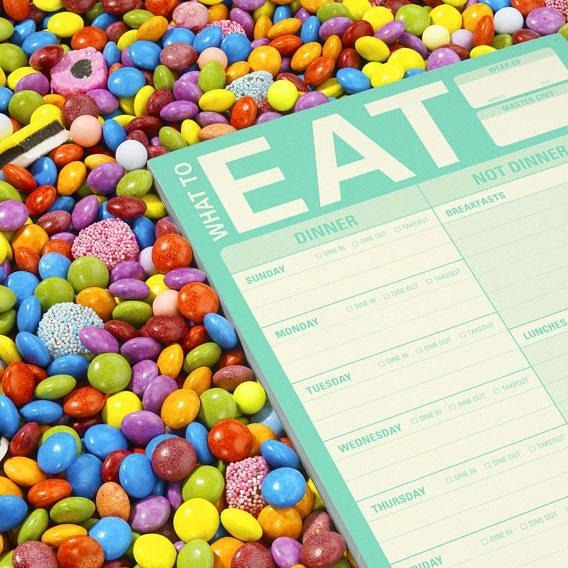 What to Eat Writing Pad