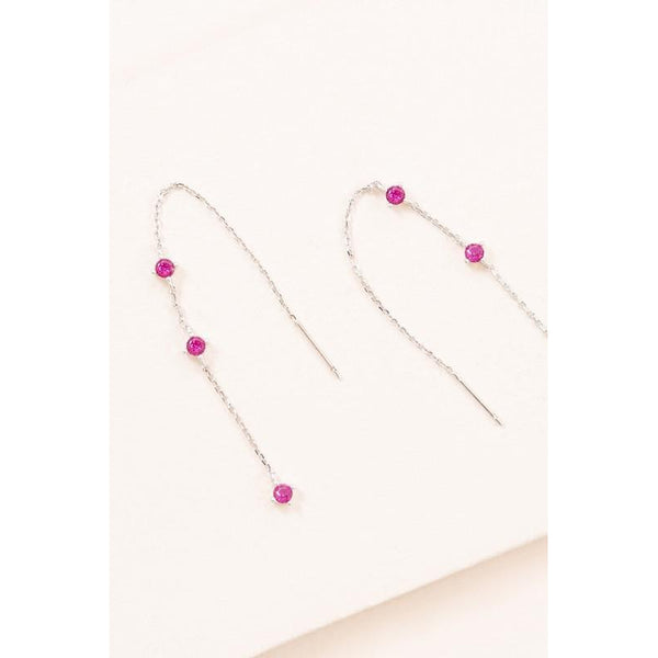 Pink Threader Earrings
